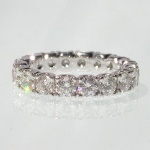 full eternity hand crafted diamond ring