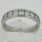 3mm diamonds channel set in platinum